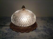 Vintage French Style Plafonnier Cut Glass Ceiling Light - Hollywood Regency