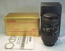 Sigma F/4 - 5.6 APO 70-300mm K Mount Lens for Pentax SLR Cameras w/ Box & Case