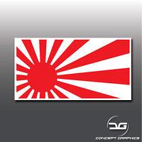 JDM Rising Sun Flag Japan Japanese Car Window Bumper Vinyl Decal Sticker Drift