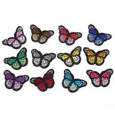 12Pcs Embroidered Butterfly Iron On Sew On Patch Fabric Applique DIY Craft Decor