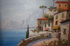 Impressionistische Landschaft Italien, Bella Italia, Gardasee Ölgemälde