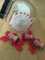 1 Personalised Valentine Retro/Vintage Sweet Jar gift him/her Empty Jar