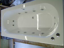 OCEAN Whirlpool Bath 12 Jet Chrome  Double Ended 1700 x 750 Bath