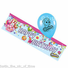 Shopkins Childrens Kids Girls Boy Birthday Party FOIL BANNER & BALLOONS Kit