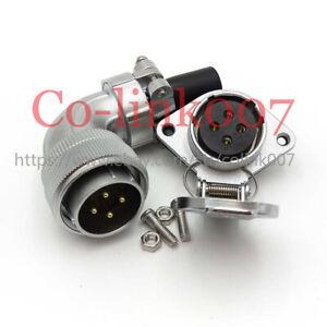 WEIPU WS28 4pin Elbow Connector, 25A Flange Blukhead Aviation Connector Plug