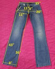 139$ NWT MISS SIXTY DY9008 FERGUSON sz W25 L36 jeans boot cut cotton women
