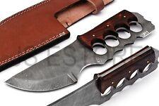 Tanto Knife !!! CUSTOM DAMASCUS STEEL Hunting Tanto KNIFE Wood With Raizon
