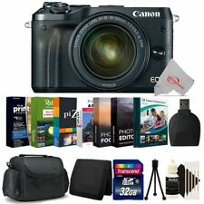 Canon EOS M6 Mirrorless Camera Black with 18-150mm Lens + 32GB Accessory Kit
