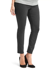 Gap NWT NEW Maternity charcoal heather demi panel skinny ankle pants 18