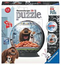 The Secret Life Of Pets 3D Puzzleball 72 Piece Ravensburger Jigsaw Puzzle