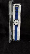 Swatch BELLABLU SUON709. Blue Silicone Quartz Watch. Unisex. Brand new