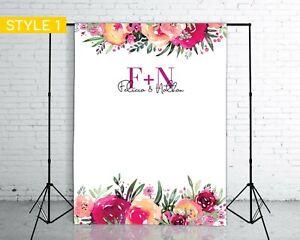 Custom Engagement Party Backdrop (1.5 x 2m) Decorations & Supplies
