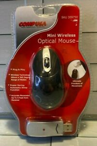 Vintage Comp USA Mini Small Wireless Mouse Travel Optical Portable Cordless NEW