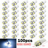 100Pcs/lot T10 5050 5SMD LED White Light Car Side Wedge Tail Light Lamp Bright