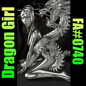 VeVe NFT Dragon Girl Silver Rare FA#0740 TokiDoki