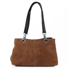 Women Suede Shoulder Bags 3 Sections Central Zipped Ladies Girls Party Hand Bags