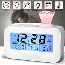 LCD Digital Radiowecker mit Projektion Uhrenradio Funkwecker Tischuhr Schlummer