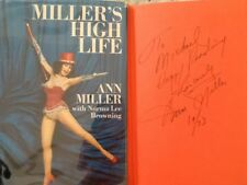 Ann Miller Autobio SIGNED Astaire Garland Gable Kelly Easter Parade MGM HC/DJ