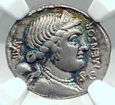 Roman Republic CITIZENSHIP LAW for ITALY 76BC Ancient Silver Coin NGC i77837