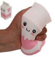 Squishy Milk Carton Phone Straps Slow Rising Soft Stress Reliever Bread Kids Toy