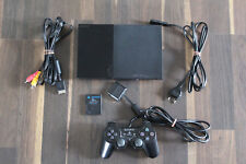 Playstation 2 PS 2 Konsole Slim schwarz + Original Sony Controller