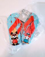 Disney Store Boys Flip Flops Size 13 Sandals Mickey Mouse Donald Duck New Sealed