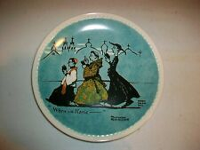 """Bradford Exchange Collector Plate - """"When In Rome"""" - Rockwell On Tour - 1982"""