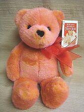 """Claude"" AVON TALKING TEDDY BEAR 100th Anniversary - Pink & Orange w/All Tags"