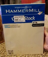 International Paper Hammer Mill Cover Stock Paper Cream 125 Sheets USA 8.5 X 11!