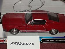 MAISTO 1967 FORD MUSTANG GT FASTBACK 1/24 RED