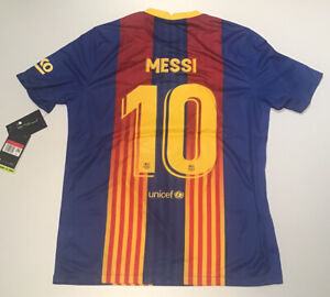 Barcelona El Clasico Jersey 2020/2021 Nike Messi #10 M-L-XL New with Tags