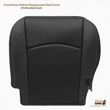 2011 2012 Dodge Ram Driver Side Bottom replacement Leather Seat Cover Dark Gray