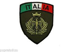 Patch Fregio Aeronautica Militare Italiana Verde Scudetto per Mimetica Vegetata