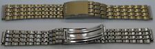 plated & s. steel 158 mm Seiko bracelet 16 mm end gold