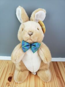 Melissa & Doug 7672 Propper Bunny Rabbit Stuffed Animal Plush Tan Brown Bow NWT