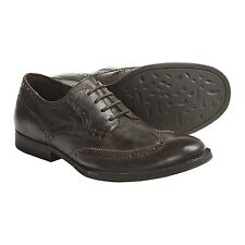 Crown by BORN Aston wingtip leather dark brown oxfords dress shoes new men 11.5