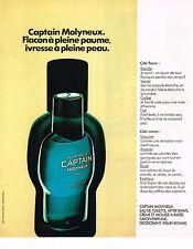 PUBLICITE  1976   CAPTAIN  eau de toilette de MOLYNEUX