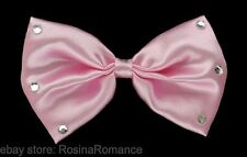 Unisex Pink Bow Tie with Stones Hen Stag Night Party Fancy Dress Accessories