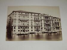 NAYA / VENISE VENEZIA 1870 Grand Hotel VINTAGE Albumen Print Photo Foto