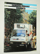 Catalogue Camion RENAULT Gamme B  1989    brochure prospectus