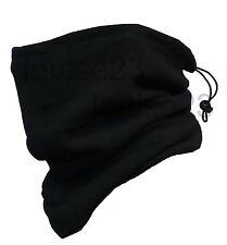 BOYS WARM WINTER 3in1 THERMAL NECK WARMER SKI HAT BLACK