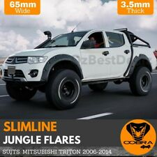 MITSUBISHI TRITON SLIMLINE JUNGLE FENDER FLARES 65 MM ML MN 2006 - 2014