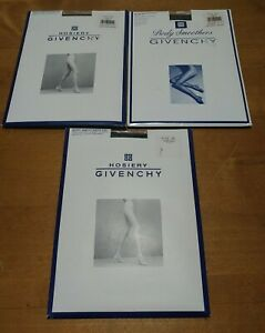 Givenchy Vintage Body Smoothers Support Pantyhose Sheer  555 Navy Size D N2