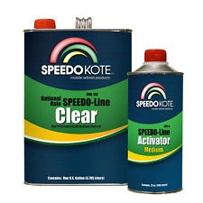 Automotive Clear Coat Fast Dry 2K Urethane, SMR-130/75 4:1 Gallon Clearcoat Kit