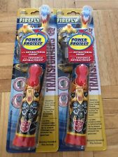 Lot 2 Transformers Battery Powered Soft Toothbrush with Firefly cover