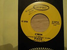 """POCO: C'mon-I Guess You Made It- 7"""" 1970 RARE USA DEMO pressing - Mint cond"""