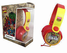 IRON MAN AVENGERS CHILDRENS KIDS PADDED STEREO HEADPHONES AUDIO 3.5mm JACK PLUG