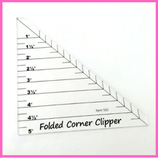 Folded Corner Clipper Quilting Ruler Templates Plastic Sewing Embroidery Tools