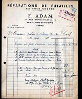 """BOULOGNE-sur-SEINE (92) REPARATION de FUTAILLES """"F. ADAM"""" en 1948"""