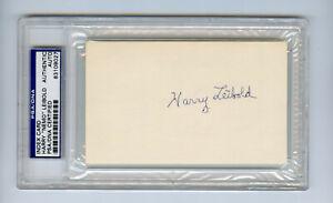 Nemo Leibold Signed PSA/DNA COA Index Card Auto Autograph 1919 White Sox Harry
